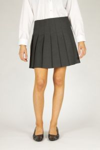 Grey Senior Stitch Down Pleat Skirt (GPB)