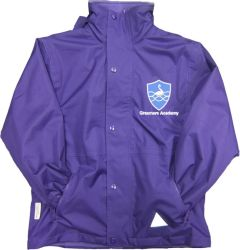 Purple Stormproof Coat - Embroidered With Grassmere Academy School Logo
