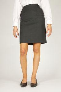 Girls Grey Skirt (Back Vent Straight) (GSA)