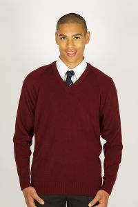 Maroon V-Neck Jumper