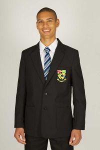 Boys Black Blazer - Embroidered with Hetton School logo