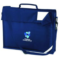 Navy Book Bag with Strap - Embroidered with Holystone Primary School logo