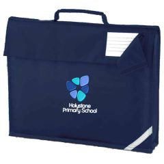 Navy Book Bag - with Embroidered Holystone Primary School Logo