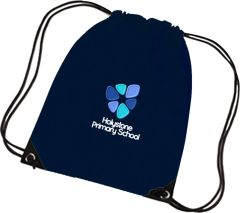 Navy Shoe Bag - with Embroidered Holystone Primary School Logo
