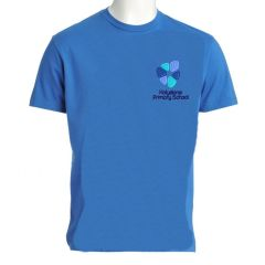 Sky T-Shirt (PE) embroidered with Holystone Primary School Logo