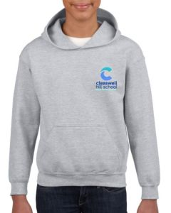 Sport Grey Hoodie - Embroidered with Cleaswell Hill School Logo