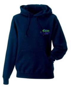 Navy Hoody - Embroidered with Hope Valley College logo