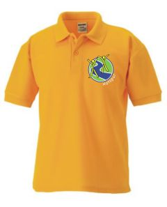 Gold Polo - Embroidered With Hotspur Primary School Logo