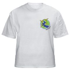 White PE T-shirt - Embroidered with Hotspur PS Logo