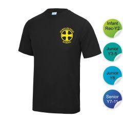 Tempest - Black Infant/Junior House T-Shirt - Printed with Durham High School Logo