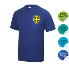 Booth - Royal Infant/Junior House T-Shirt - Printed with Durham High School Logo