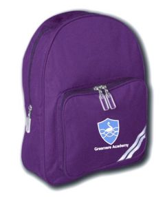 Purple Infant Backpack - Embroidered With Grasmere Academy Logo