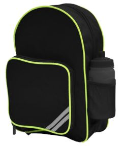 Black Junior HiViz Backpack - for Christ's College, Sunderland (Essential for students in Years 2-6 only)