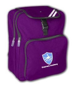 Purple Junior Backpack - Embroidered With Grasmere Academy Logo