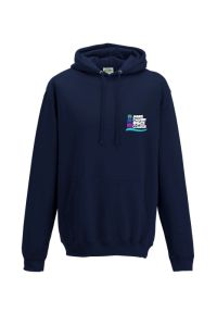 Navy Hoodie - Embroidered with James Calvert Spence College logo