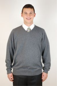 Grey Jumper - Embroidered with James Calvert Spence College logo