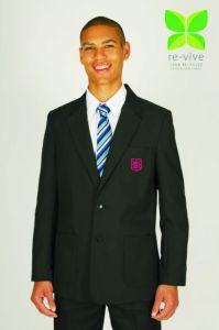 Boys Black Blazer - Embroidered with King Edward VI School Logo