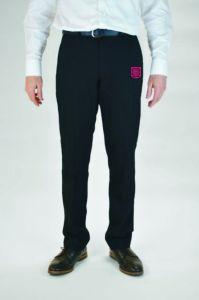 Boys Black Senior Slim Leg Trouser - Embroidered with King Edward VI School Logo