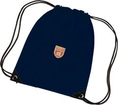 Navy PE Bag - Embroidered With Kings Priory School Logo