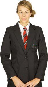 Black Girls Blazer- Embroidered with Longbenton High School Logo