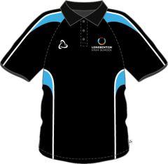 Black + Sky PE Polo (Compulsory For Girls & Boys) - Embroidered with Longbenton High School Logo