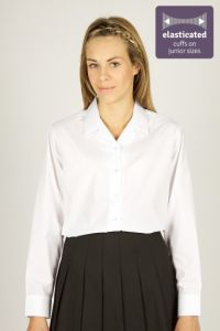 White Long Sleeve Non Iron Rever Collar Blouses - Twin Pack (LRP/RLB)