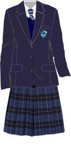 Main Uniform Kit Deal 1 (Girls Blazer + Tartan Skirt) for Hermitage Academy