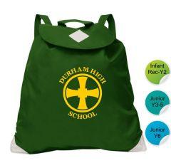 Swim Bag (Infant Shoe Bag) Rucksac - Embroidered with Durham High School Logo