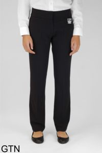 Black Senior Girls Twin Pocket Trouser (GTN) - Embroidered with Marden High School Logo