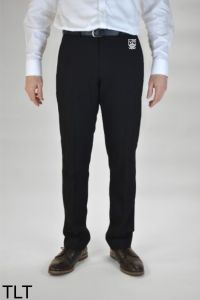 Boys Black Single Pleat Trousers (TLT) - Embroidered with Marden High School Logo