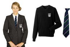 Girls Black Blazer, Black Jumper & Tie *Special Deal* - for Marden High School