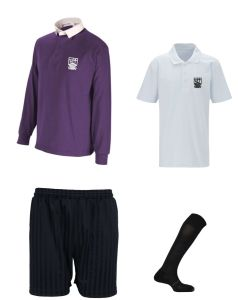 Boys PE Kit Deal - Rugby Shirt + Polo + Shorts + Socks - Embroidered With Marden High School Logo