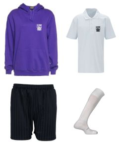 Girls PE Kit Deal - Hoody + Polo + Shorts + Socks - Embroidered With Marden High School Logo