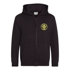 Black Zipped Hoodie - Embroidered Morpeth All Saints CE First School Logo