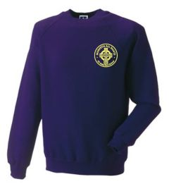 Purple Sweatshirt - Embroidered Morpeth All Saints CE First School Logo