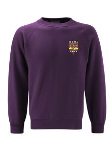Purple Sweatshirt Crew Neck - With Marden Bridge Middle School Logo