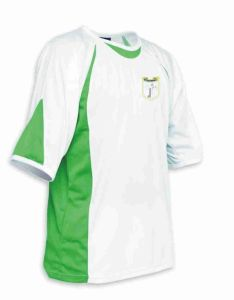 White/Emerald Sports T-Shirt - Meadowdale Academy Logo