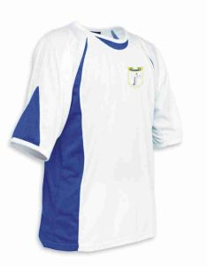 White/Royal Sports T-Shirt - Meadowdale Academy Logo