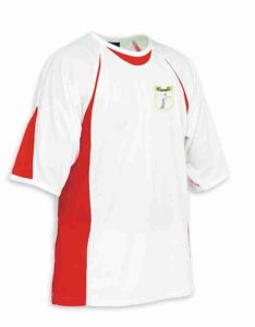 White/Scarlet Sports T-Shirt - Meadowdale Academy Logo