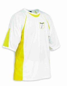 White/Yellow Sports T-Shirt - Meadowdale Academy Logo