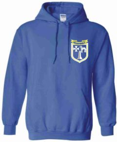 Royal Hoodie with embroidered Meadowdale Academy Logo