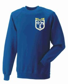 Royal Sweatshirt with Embroidered Meadowdale Academy Logo