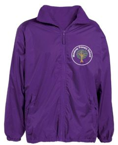 Purple Showerproof Jacket - Embroidered Mowbray Primary School Logo