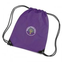 Purple PE Bag - Embroidered with Mowbray Primary School Logo