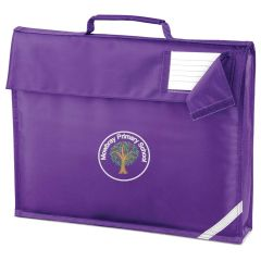Purple Book Bag - Embroidered with Mowbray Primary School Logo
