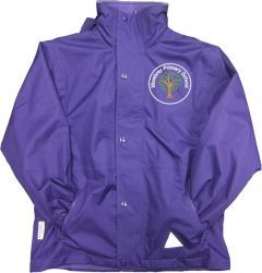 Purple Stormproof Coat - Embroidered with Mowbray Primary School Logo
