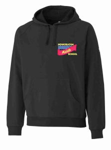 Black PE Hoody - Embroidered With Monkseaton Middle School Logo