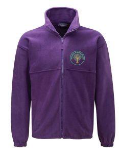 Warkworth (Green) Purple Polar Fleece - Embroidered Mowbray Primary School Logo