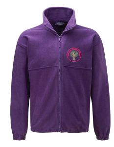 Alnwick (Red) Purple Polar Fleece - Embroidered Mowbray Primary School Logo