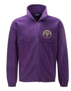 Bamburgh (Yellow) Purple Polar Fleece - Embroidered Mowbray Primary School Logo